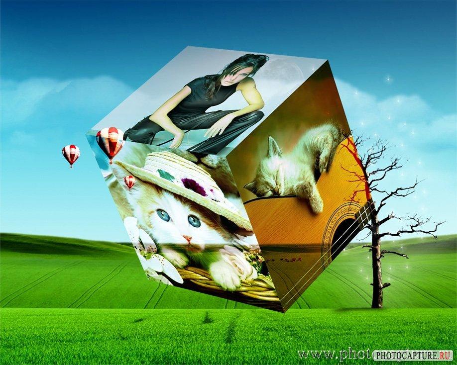 Фото на кубе