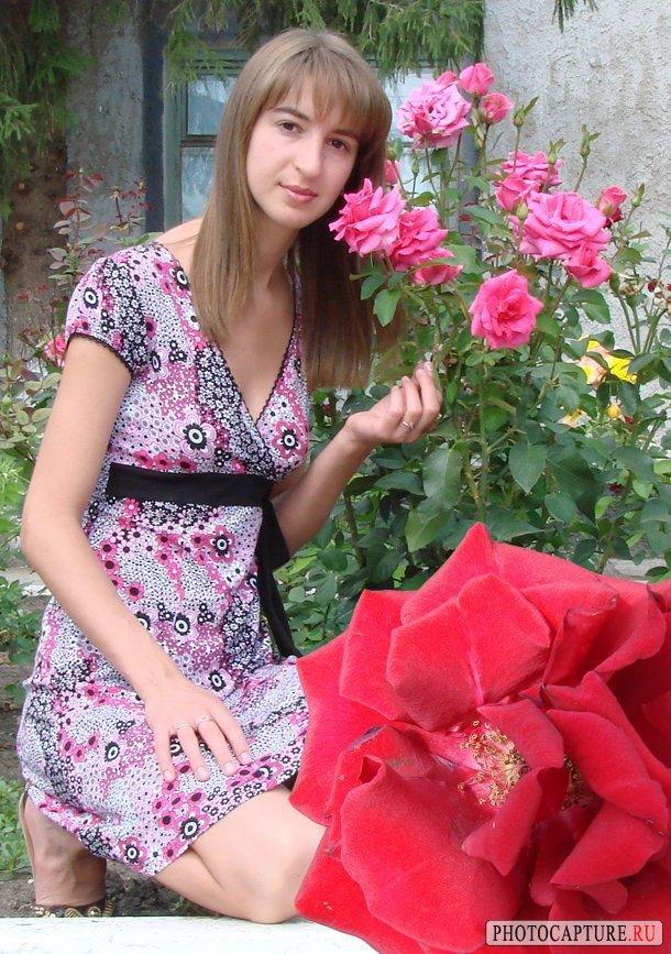 Розу на фотографию