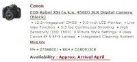 Canon откладывает выпуск EOS 450D?