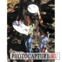 Портрет на открытом воздухе с использованием рассеивателей света