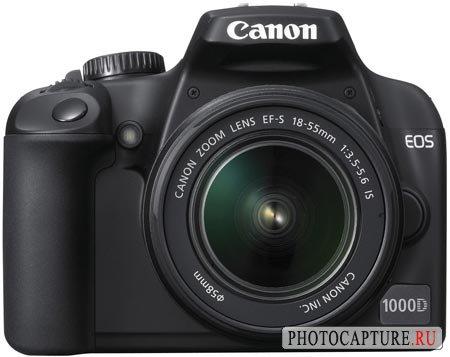 Спецификации и внешний вид камеры Canon EOS 1000D; цены в Европе